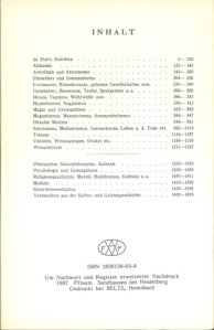 bibliotheca occulta_Inhalt