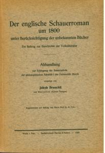 Der englische Schauerroman um 1800