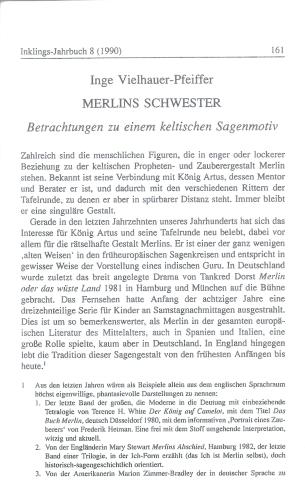 Inge Vielhauer - Merlins Schwester