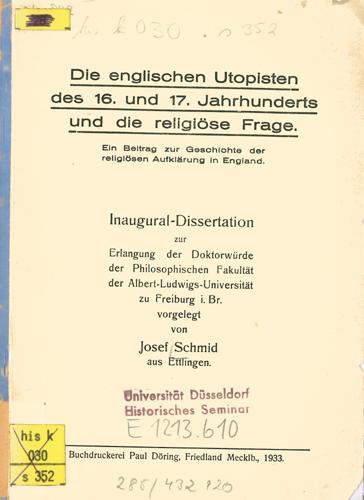 Josef Schmid - Die englischen Utopisten …