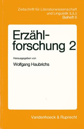 Wolfgang Haubrichs - Erzählforschung 2