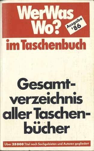 Rainer Rossipaul (Hrsg.) - Gesamtverzeichnis aller Taschenbücher 1986
