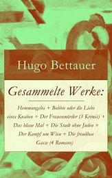Hugo Bettauer - Gesammelte Werke