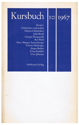 Hans Magnus Enzensberger - Kursbuch 10