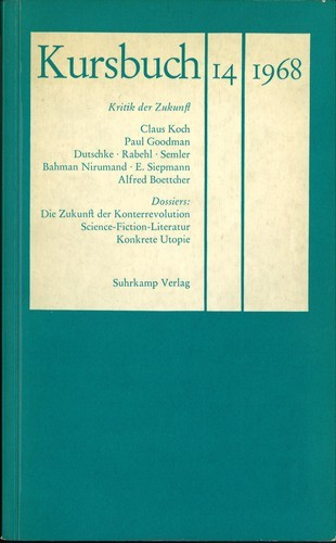 Hans Magnus Enzensberger - Kursbuch 14